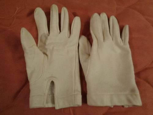 Paire de gants blancs 7/8ans