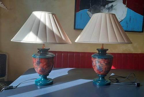 Paire de Lampes Céramique