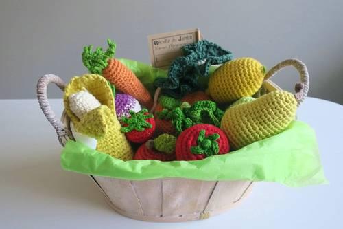Panier petits légumes en crochet