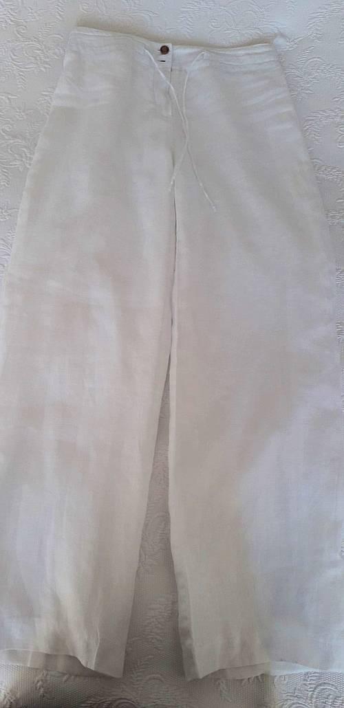 Pantalon en lin blanc T38