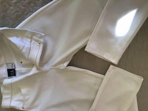 Pantalon blanc cassé slim taille 38neuf