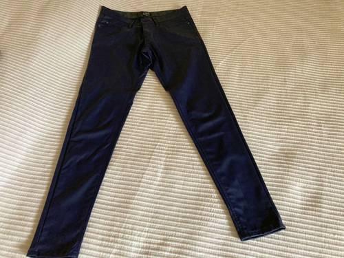 Pantalon skaï marine taille 40