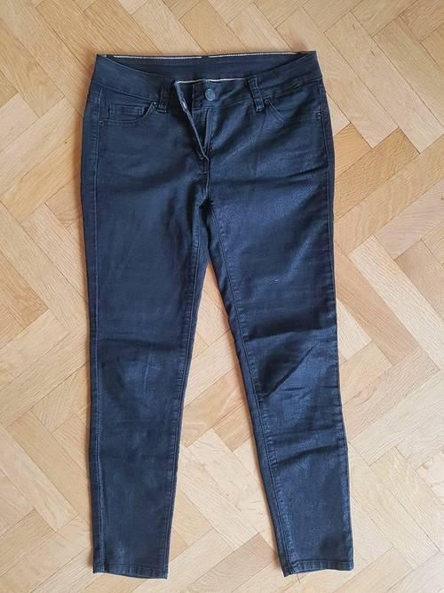 Pantalon moulant noir style croco Naf Naf - taille XS