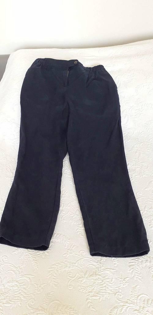 Pantalon en lin T38bleu marine