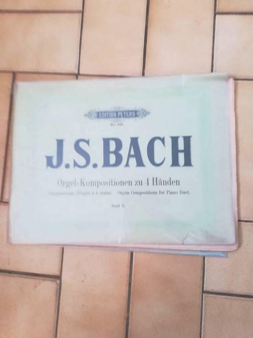 Patition orgue Bach, 4mains