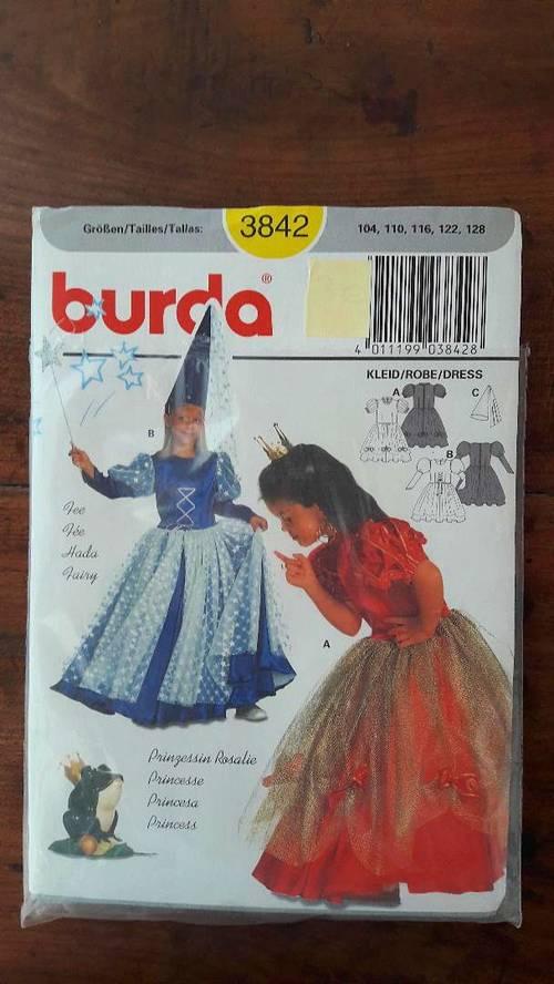 Patron de couture Burda pour robe de princesse 4à 8ans