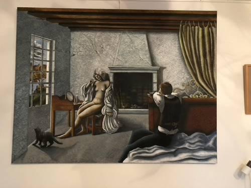 Peinture originale,claude Goberty 1969+ étude signée