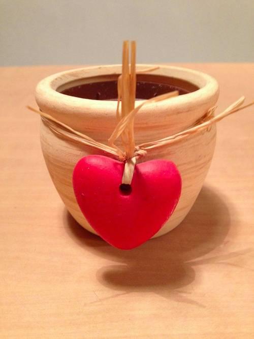 Petit cache pot avec coeur
