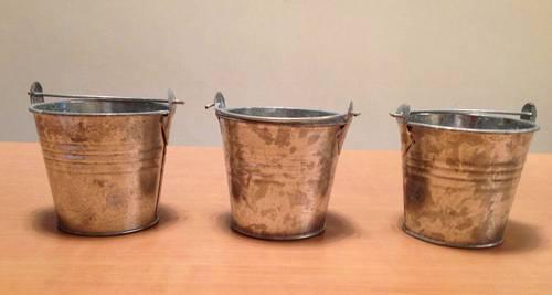 3petits cache pot en zinc