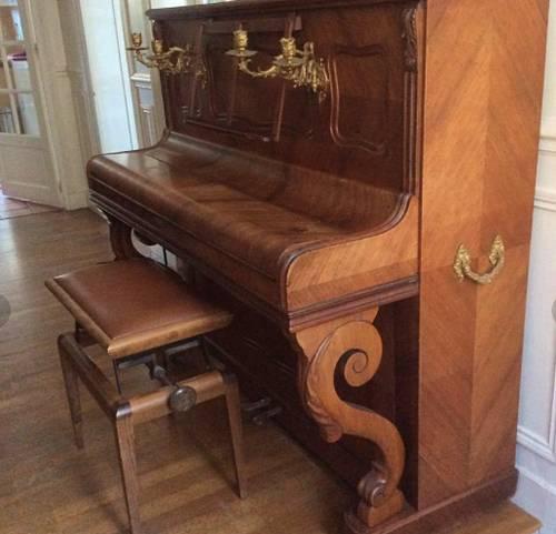 Piano droit ancien Émile Mennesson