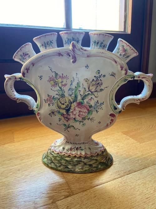 Pique fleurs ancien en porcelaine (Saxe?)