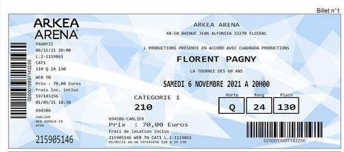 4Places de concert pour Florent Pagny
