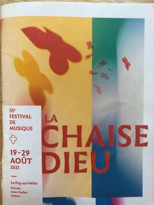 Vends places Festival de la Chaise-Dieu du 20au 23Août 2021