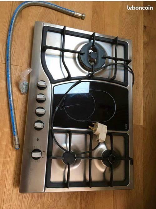 Plaque cuisson gaz et vitrocéramique