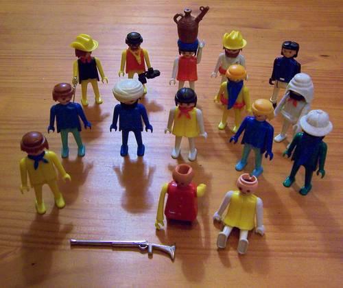 Playmobil anciens - lot personnages, animaux, accessoires