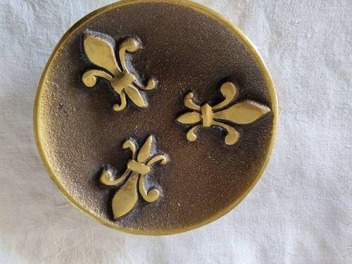 Vide-poche en bronze doré, excellent état