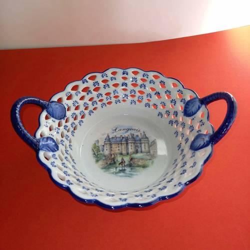 Vide poche en porcelaine avec le château de Langeais