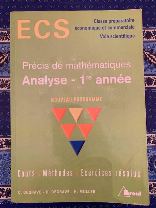3Livres de mathématiques BREAL ECS 1/ HEC