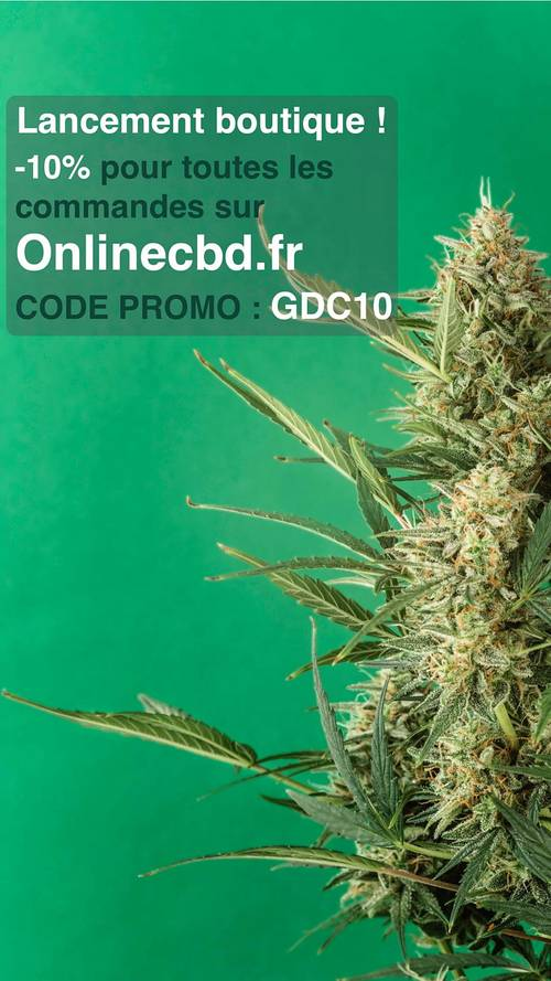 Code promo GDC - Cannabis CBD (des fleurs, de l'huile, des infusions)