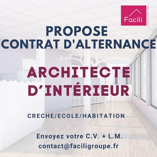 Propose alternance Architecte d'intérieur