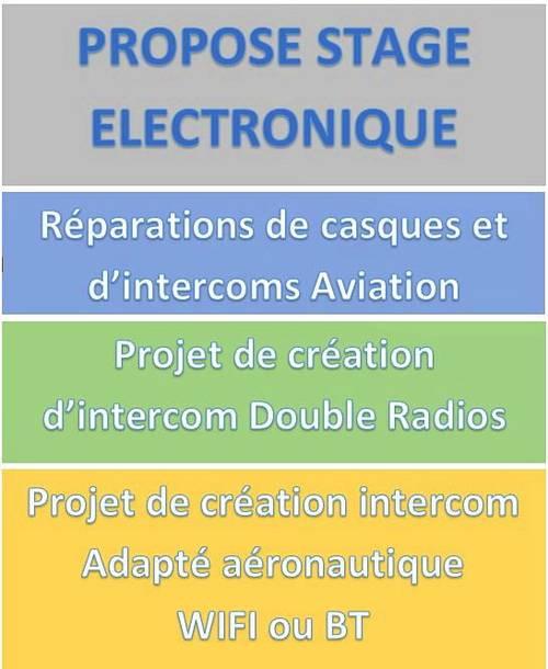 Propose Stage électronique