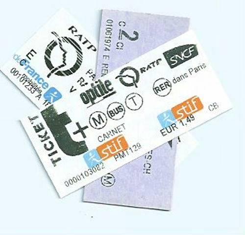 Propose Tickets Trains 50% Ile de France Prix imprimé