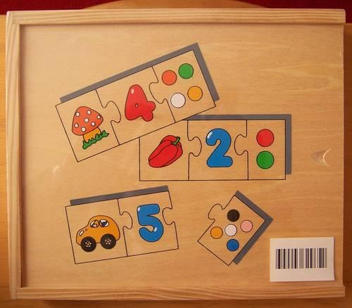 En bois Puzzle Trio 1à 10(neuf)