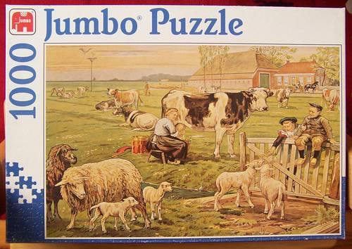 Puzzle 1000pièces - Au champs - Jumbo (bon état)