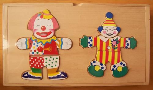 Puzzles Clown en bois 36pièces (neuf)