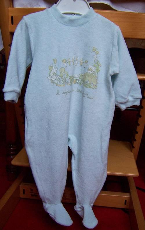 Pyjama, dors bien vert d'eau Petit Bateau 1an (neuf)