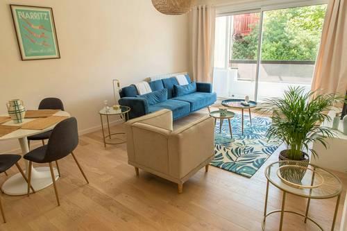 Loue à Biarritz (64) Quartier Impérial - appartement neuf - 4couchages