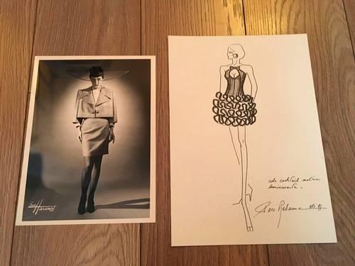 Vends Paco Rabanne: jolie iIllustration et photo originale studio Harcourt