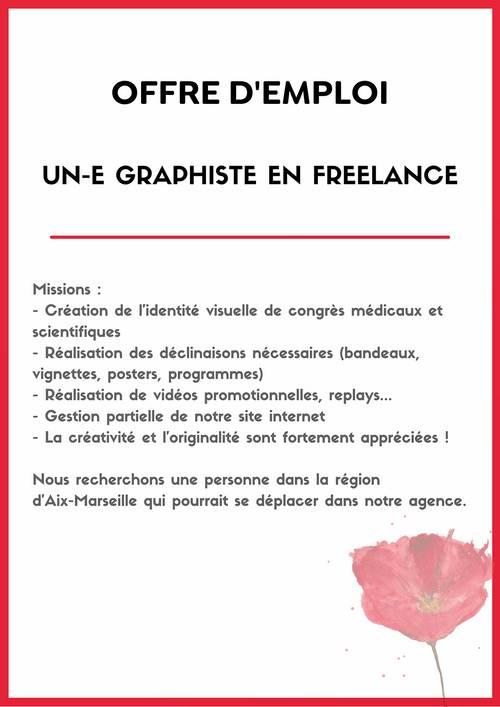 Recherche Graphiste free lance pour agence évènementielle H/F