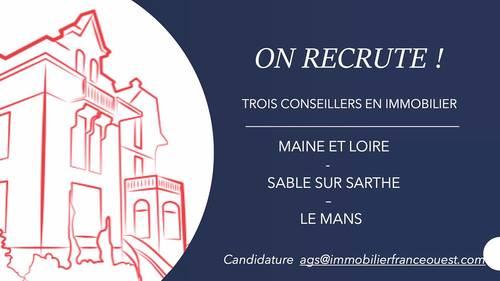 Recrute H/F Conseiller en immobilier - Maine et Loire / Sarthe