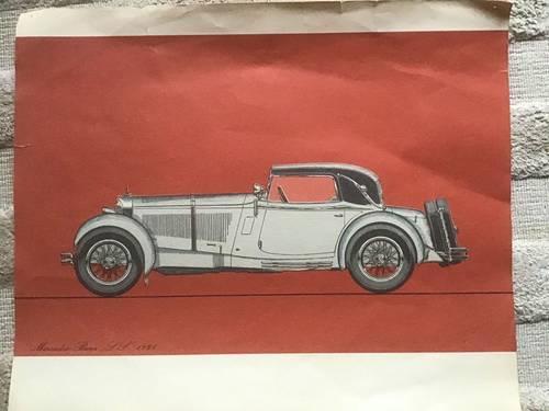 3reproductions de voitures de collection Mercedes