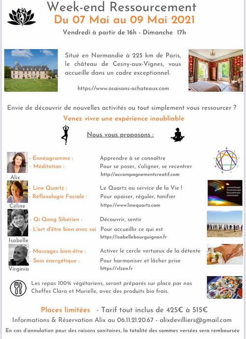 """Propose week end """"Ressourcement"""" dans château, du 7au 9mai 21"""