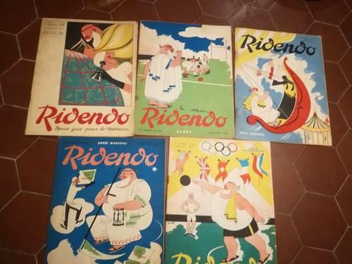 Lot 5revues des médecins Ridendo, années 1935et 1952
