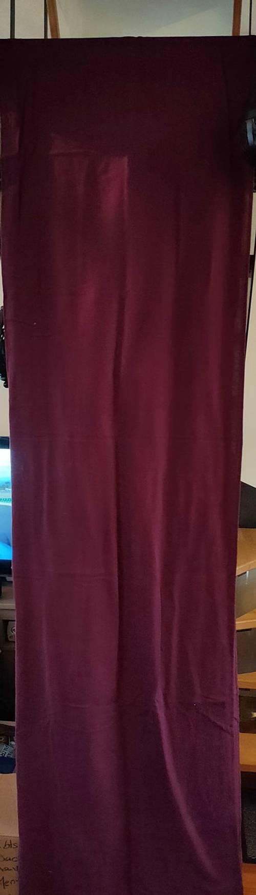 3pans de rideaux coton Parme