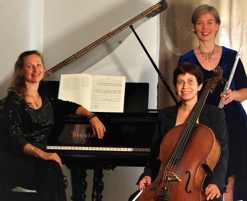 Propose prestations pour événements: Trio Saphir: flûte, violoncelle et piano