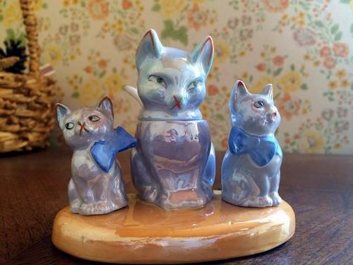 Vends Salière et poivrière chats