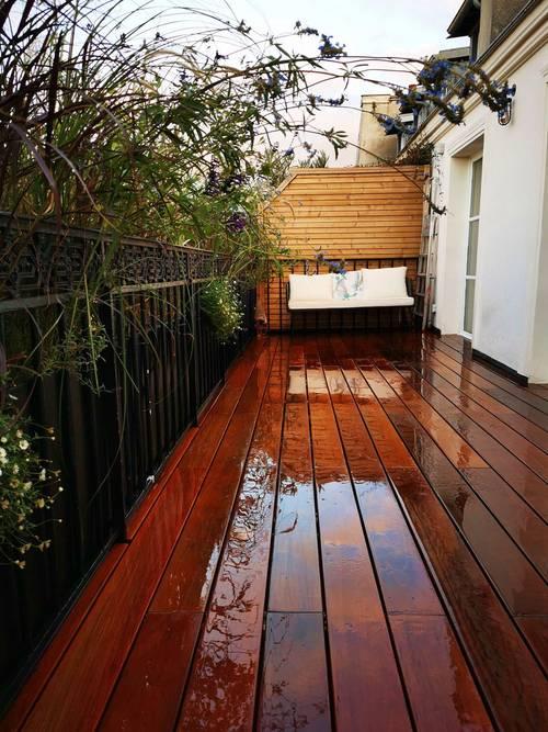 Propose service d'aménagement, terrasse bois, balcon, jardin, arrosage automatique