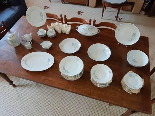 Service Chardons Porcelaine de limoges 78pièces