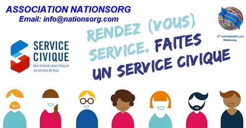 Propose SERVICE CIVIQUE chez Nationsorg (8mois)