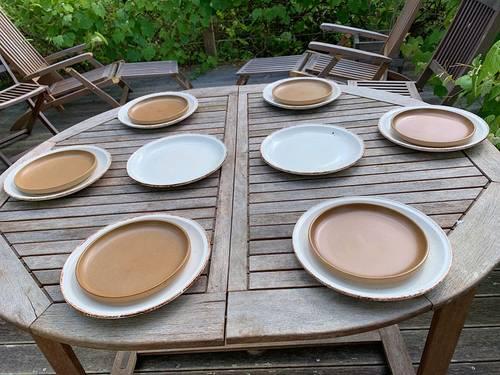 Service de table vintage en grès vernissé de Gien