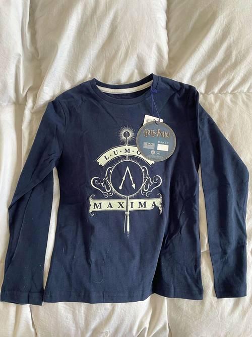 T Shirt Cyrillus 8ans Harry Potter bleu marine neuf
