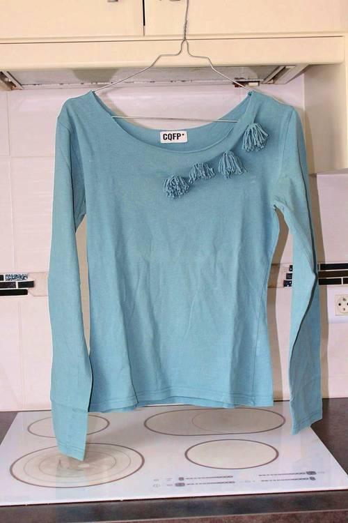 Tee-shirt bleu livrable