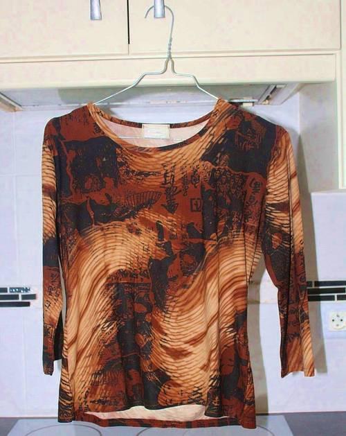 Tee-shirt marron noir, taille S