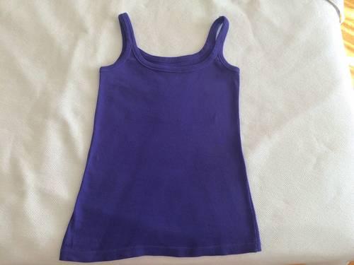 T-shirt violet en coton taille S