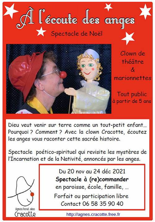 """Propose Spectacle familial """"A l'écoute des anges"""" (28nov-24déc, France)"""