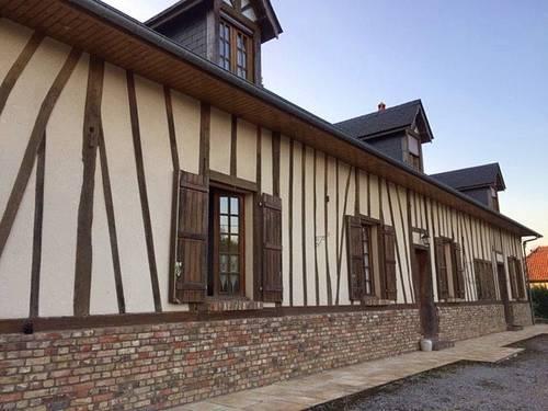 Vends propriété avec longère 4chambres, à 30kms de la station balneaire du Treport - Ram - Huppy (80)